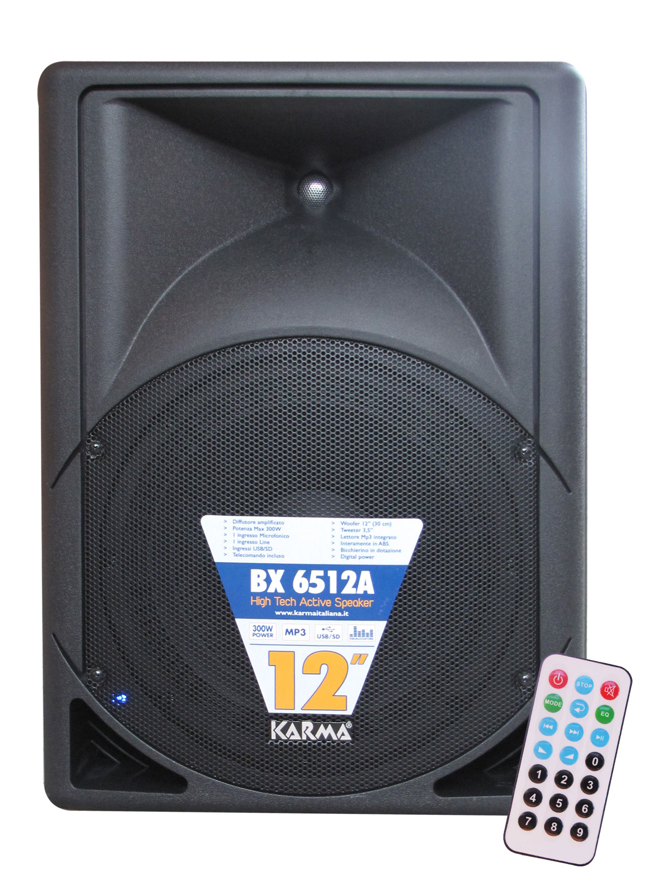 Box amplificato 300W MP3 KARMA