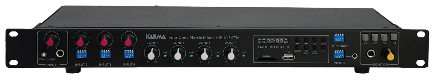Mixer 4 zone con Mp3 KARMA MMX 54ZM