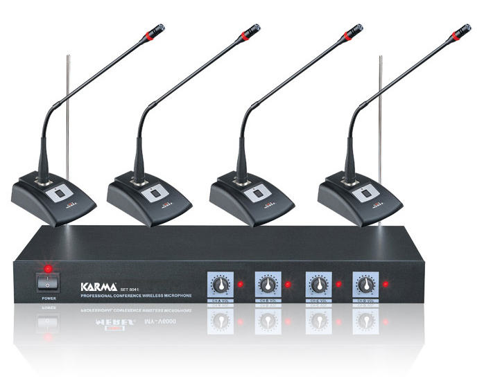 Kit per conferenze wireless 4 mic KARMA SET 8041